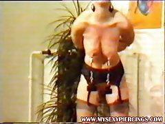 Vintage porno prywatne wideo pogrubienie Slave z przebili Sutki