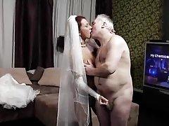 Goracy sex stary mąż i włoski panna młoda